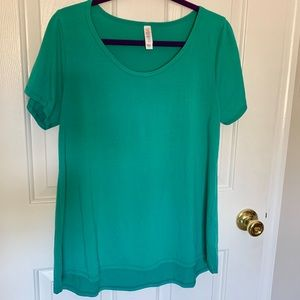 LuLaRoe Solid Classic T in Blue-Green
